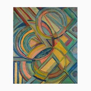 Peinture à l'Huile Composition Cubiste par Nicolas Issaiev, années 30