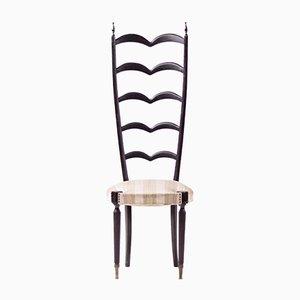 Beistellstuhl aus Mahagoni mit hoher Rückenlehne von Paolo Buffa für Marelli & Colico, 1950er