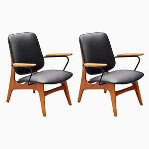 Mid-Century Dutch Modernist Lounge Chairs, Set of 2
