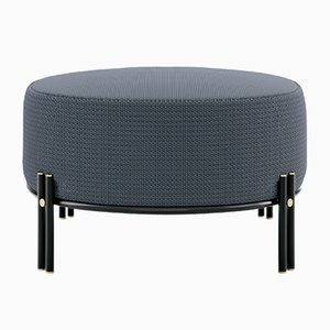Upholstered Bench With Metal Legs & Details