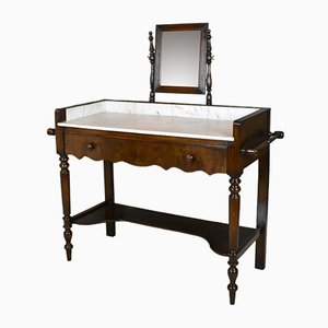 Antique French Washstand with Mirror, 1920s