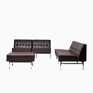 Living Room Sofa and Ottoman Set by George Nelson for Herman Miller, 1964, Set of 3