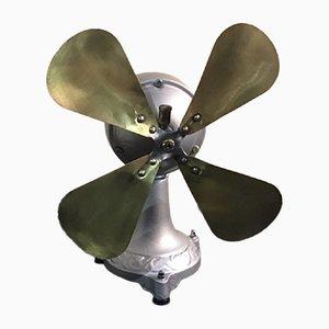 Ventilador italiano antiguo de hierro fundido de Marelli