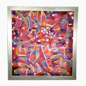 Pintura al óleo Expressionnista Chamanico vintage de David Leonardo