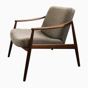 Deutscher Mid-Century Sessel mit Gestell aus Teak von Hartmut Lohmeyer für Wilkhahn, 1950er