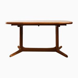 Table de Salle à Manger Ovale Mid-Century en Teck de Rasmus Solberg, Danemark, années 60