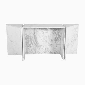 Italian Marble Console Modular Table from Up&Up, 1970s