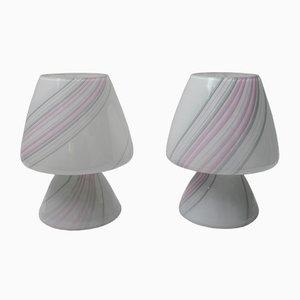 Lampes de Bureau en Verre de Murano de Maestri Muranesi, années 80, Set de 2