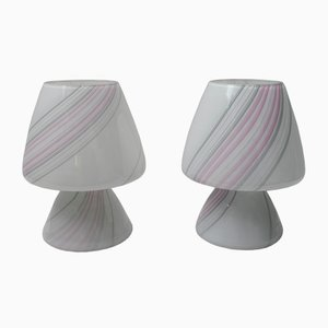 Tischlampen aus Muranoglas von Maestri Muranesi, 1980er, 2er Set