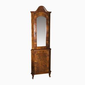 Mueble esquinero inglés vintage de marquetería