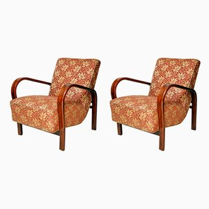 Art Deco Bentwood Armchairs by Antonin Kropacek & Karel Kozelka for Interier Praha, 1950s, Set of 2