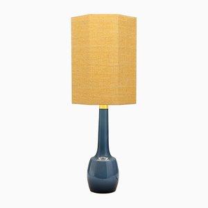 Lampe de Bureau Octagonale Bleue en Verre de Bergboms, Suède, années 60