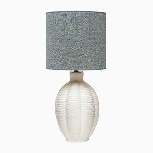 Lámpara de mesa sueca de cerámica azul de Upsala Ekeby, años 60