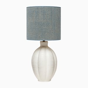 Swedish Blue Ceramic Table Lamp from Upsala Ekeby, 1960s