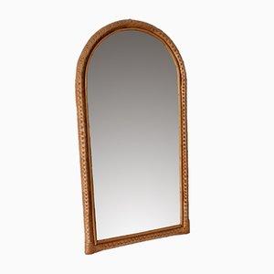 Espejo de pared de ratán, años 70