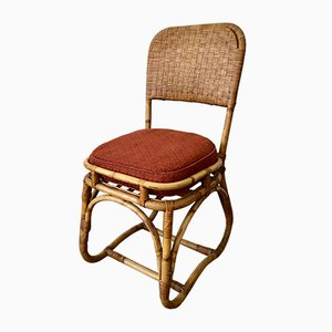 Mid-Century Rattan and Bamboo Side Chair