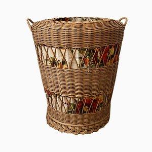 Vintage Rattan Laundry Basket, 1970s