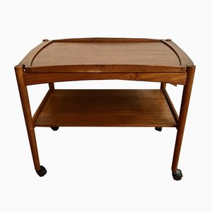 Mid-Century Wooden Trolley by Poul Hundevad, 1950s