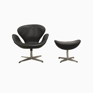 Swan Chair and Ottoman by Arne Jacobsen for Fritz Hansen, 1950s