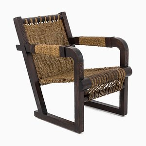 Art Deco Pinewood Armchair by Francis Jourdain, 1930s