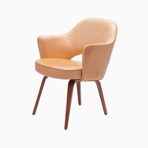 Leather Vegetal Armchair by Eero Saarinen for De Coene, 1960s