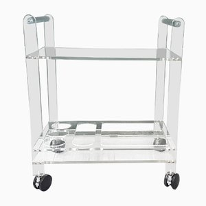 Lucite Serving Trolley, 1970s