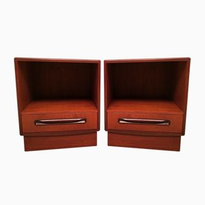 Teak Model Fresco Nightstands by Victor Wilkins for G-Plan, 1960s, Set of 2