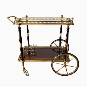 Golden Glass and Mahogany Trolley, 1960s