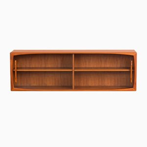 Danish Teak Floating Wall Unit, 1960s