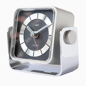 Bauhaus Style Desk Clock from AEG, 1970s