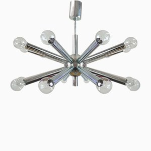 Space Age Italian Chrome Sputnik Chandelier by Gaetano Sciolari for Sciolari, 1960s