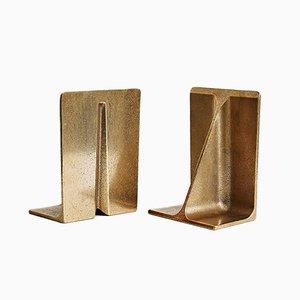 Buchstützen aus Bronze von Henry Wilson