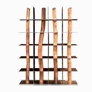 Korean Hanok Split Shelf by Shinkyu Shon
