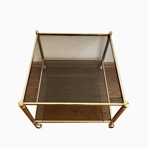 Gold Brass and Glass Trolley, 1970s