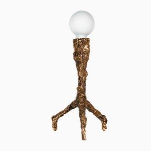 Einzigartige skulpturale Tischlampe aus Bronze von William Guillon