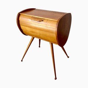 Costurero Mid-Century pequeño de madera, años 60
