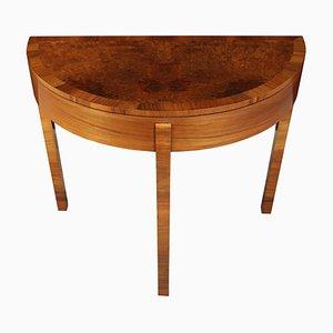 Art Déco Spieltisch aus Nussholz, 1930er