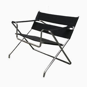 Vintage German Model D4 Folding Chair by Marcel Breuer for Tecta