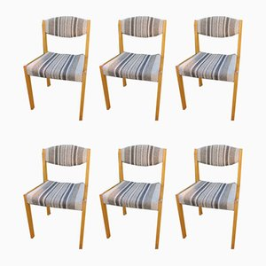 Oak Dining Chairs, 1950s, Set of 6