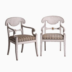 19th Century Swedish Armchairs, Set of 2