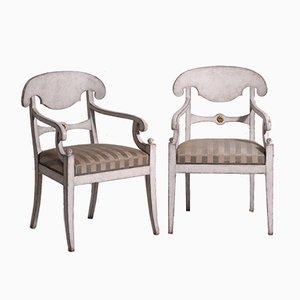 Schwedische Armlehnstühle, 19. Jh., 2er Set
