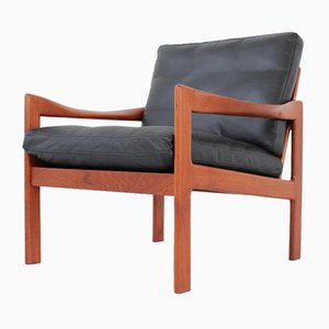 Mid-Century Danish Lounge Chair by Illum Wikkelsø for Niels Eilersen, 1960s