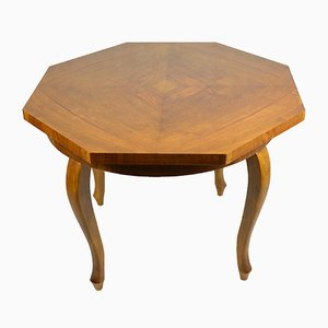Vintage Chippendale Style French Octagonal Dining Table, 1930s