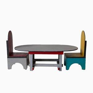 Spielzeugtisch & Stühle von Ko Verzuu, 1930er