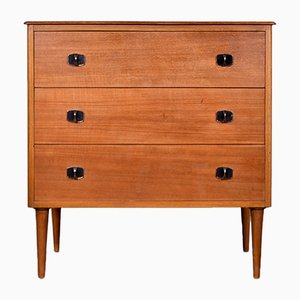 Walnut and Beech Chest of Drawers, 1960s