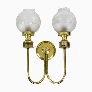 Spanische 2-armige Wandlampe, 1950er
