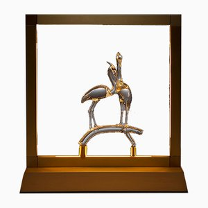 Heron Table Lamp from E-sumi Collection by Simone Crestani