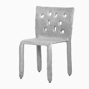 Weißer geformter Beistellstuhl von Victoria Yakusha
