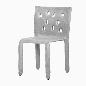 White Sculpted Side Chair by Victoria Yakusha
