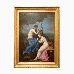 Antike Orpheus und Eurydice Gemälde von AM Roucoule, 1977